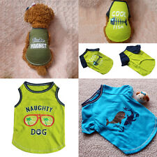 Summer Pet Dog T-shirt Clothes Puppy Cat Cotton Vest Clothing Coat Apparel