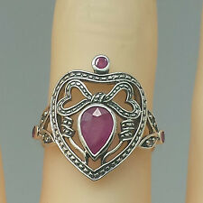 Ruby Diamond Ring Ruby Diamonds 925 Silver ANTIQUE STYLE Sterling silver