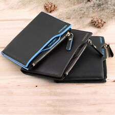 Mens Luxury Quality Leather Wallet Credit Card Holder ZIP Bifold COIN PURSE HT