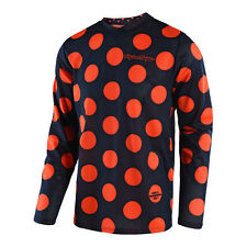 Troy Lee Designs GP Air Motocross Jersey - POLKA DOT Navy/Orange - Adult Sizes
