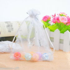 Wholesale Lots 13x16cm White Butterfly Organza Wedding Gift Bags&Pouches