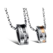 """""""Love You Till the End"""" 316L Stainless Steel Couples Pendant Necklace Jewelry"""