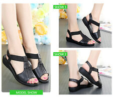 Summer Shoes Woman Genuine Leather Flat Sandals Female Open Toe Shoes Sandals