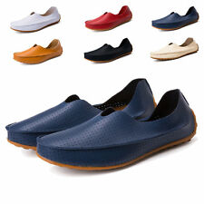 Summer Men Slip On PU Leather Loafer Driving Moccasin Casual Breathable Shoes