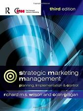 Strategic Marketing Management: Planning, Implementation and Control,GOOD Book