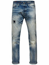 Jack and Jones Erik Royal RDD 043 Jeans Faded Tapered Leg Carrot Fit