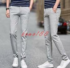 Summer breath straight leg breath Mens pants linen cotton casual trousers New Y@