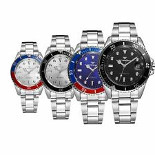 Luxury Men's Wrist Watches Date Analog Army Mechanical Automatic Stainless Steel