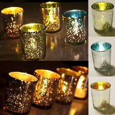 2/6/12pcs Mercury Glass Tea Light Candle Holders Party Christmas Home Decoration