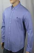 Ralph Lauren Blue White Striped Classic Dress Shirt Navy Pony NWT