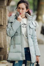 2017 Winter Warm Coat Women Fur Hooded Down Coat Slim Long parka Jacket Overcoat
