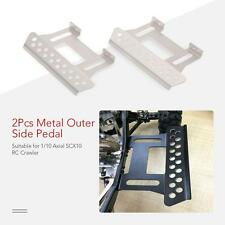 1/10 Rock Crawler Pedal 2Pcs Metal Outer Side Pedal Plate Axial SCX10 HOT M5X0