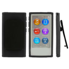 Gel Rubber Soft Skin Case Cover with Belt Clip For iPod Nano 7 7G 7th Gen