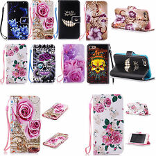 Pretty Leather Skin Case Card Slots Wallet Cover For Apple iPhone 7 7 Plus 6 5S