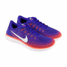 Nike Nike Free Run Distance Mens Purple Textile Athletic Running Shoes