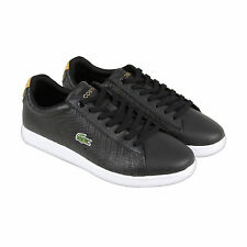 Lacoste Carnaby Evo Mens Black Leather Lace Up Lace Up Sneakers Shoes