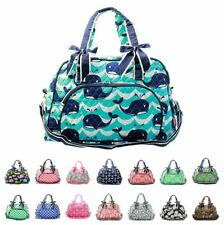 """18"""" Quilted Duffle Tote Bag Kids Girls"""