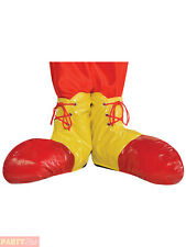 Childs Clown Shoe Covers Boys Girls Circus Fancy Dress Costume Accessories