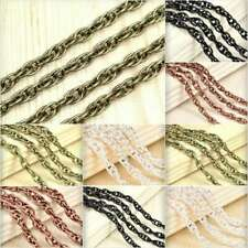 2/4m Unfinished Woven Curb Chain Bulk Craft Necklace Jewelry Findings DIY HC