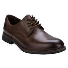 Mens Rockport Classic Break Plain Toe Shoes In Brown-Lace Fastening-Leather