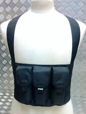 Solo Light Weight Concealable Tactical / Assault 3 Pouch Chest Rig Molle - NEW