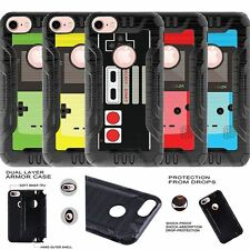 "For Apple iPhone 7 (4.7"") Case Dual Layer Hybrid Cover Retro Game"