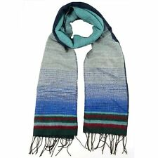 LA77 Multicolored Fringe-trim Blanket Scarf