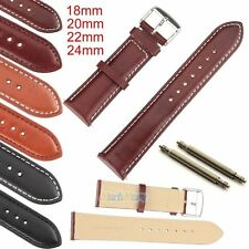 Genuine Leather Watch Strap Band Watchband TWISTER Mens Stainless Steel Buckle