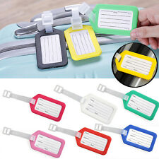 Plastic Suitcase / Luggage ID Tags Label NAME ADDRESS ID SUITCASE Bag TRAVEL Lot