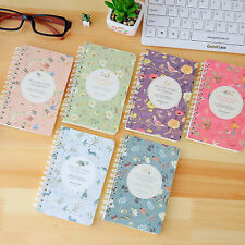 Flower Notepad Spiral Pad - Book Lined 80 sheets Paper Notebook - Random Color