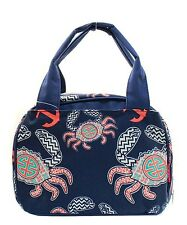 Crab Insulated Lunch Box-Lunch Tote Bag-Navy- Lunch Bag-Back to school