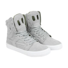 Supra Skytop II Mens Grey Suede High Top Lace Up Sneakers Shoes
