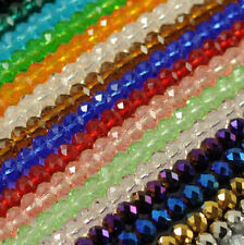 22 Colors Faceted Crystal Rondelle Loose Glass Beads Jewelry 6mm 8mm