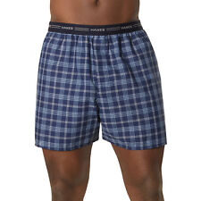 10 Hanes Men's Yarn Dyed Plaid Boxers 841BX5