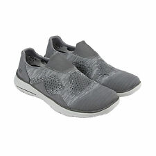 Skechers Glides Elten Mens Gray Textile and Mesh Athletic Slip On Running Shoes
