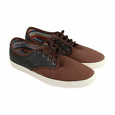 Vans Ludlow Mens Brown Leather Lace Up Sneakers Shoes