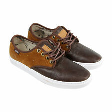 Vans Ludlow Mens Brown Leather Lace Up Lace Up Sneakers Shoes