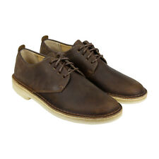 Clarks Desert London Mens Brown Leather Casual Dress Lace Up Oxfords Shoes