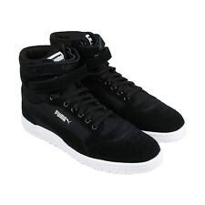 Puma Sky Ii Hi Core Mens Black Leather High Top Lace Up Sneakers Shoes