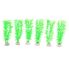 6 Pcs Plastic Aquarium Plants Fish Tank Water Plant Decoration Ornament