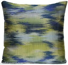 Cushion Cover Blue Green Pillow Throw Case Pierre Frey Silk Woven Fabric