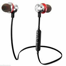 Wireless Bluetooth Sport Stereo Headset Volume Control headphone bass Earplugs