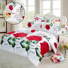 4X King/Queen/Twin size Bed Quilt Cover Set Bedding Sheet Pillow Cases Sets E4A4
