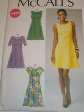 McCalls 6889 Pattern - Misses' Close-fitting Dresses 6-14 or 14-22 UNCUT