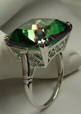 20ct Big *Mystic Topaz* Sterling Silver English Filigree Ring (MTO/New) Size Any