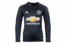 adidas Manchester United 17/18 Kids Home L/S Goalkeepers Football Shirt