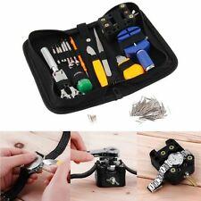 144 Pcs Watchmaker Watch Repair Tool Kit Back Case Opener Remover Spring Pin GH