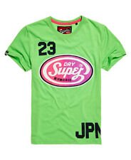New Mens Superdry Reworked Classic T-shirt Fluro Green