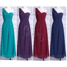 Womens Elegant Bridesmaid One Shoulder Long Evening COCKTAIL Party Formal Dress