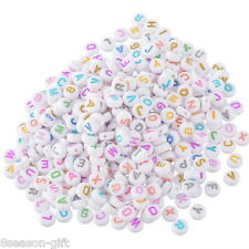 Wholesale Lots Mixed Multicolor Alphabet/Letter Acrylic Ramdon Spacer Beads 7mm